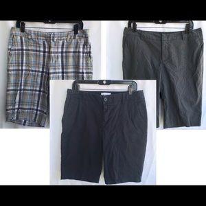 🔥Bundle Lot! 3 Bermuda Shorts Size 10 + GIFT Inc.